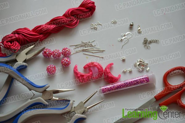materials for hot pink jewelry