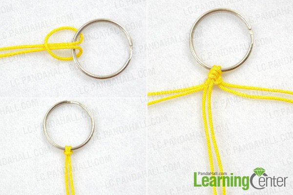 Instruction on how to make macrame keychain