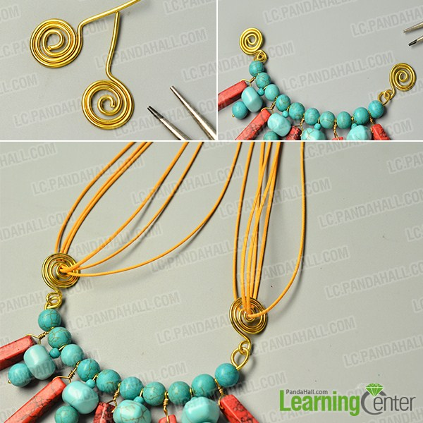 make the rest part of the turquoise bead pendant necklace