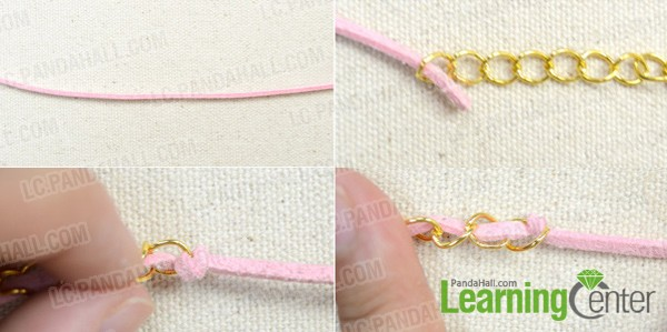 make a basic leather and chain bracelet