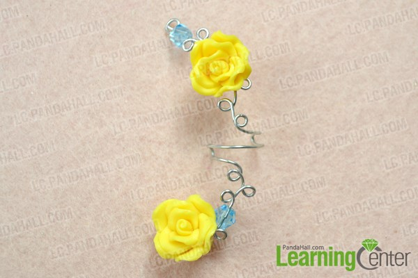 Finish making your own flower ear cuff