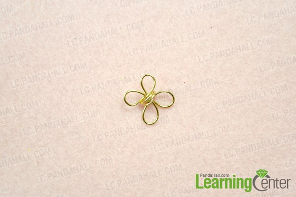 Make wire wrapped four leaf clover