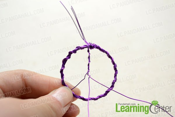 Direct the 3 wire strands downwards