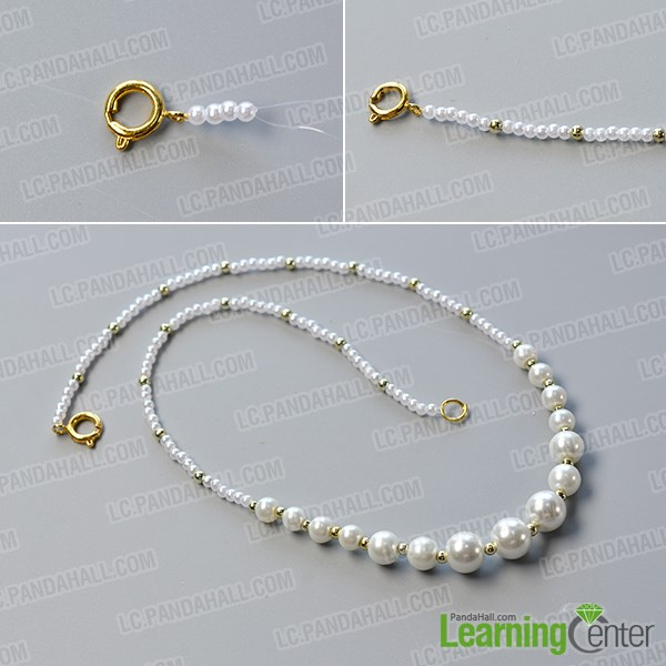 Prepare the basic pattern of the pearl necklace