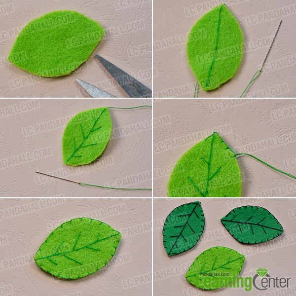 make three green leafs