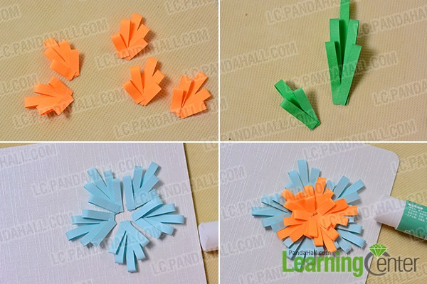 Easy diy cardhow to make quilling flower greeting cards pandahall make paper flowers m4hsunfo