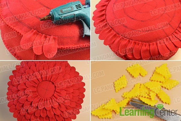 Step 5: Add the petals on the pillow
