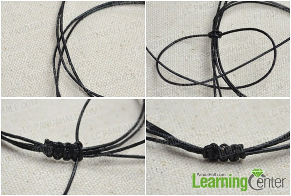 Step 2: Braid the adjustable closure