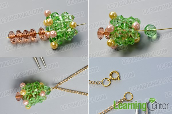 Finish the glass beads pendant