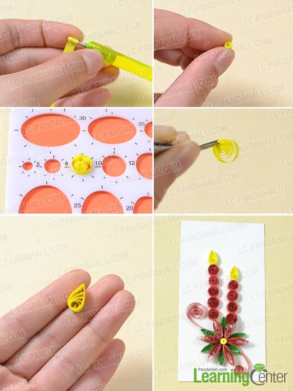 Add quilling paper candles