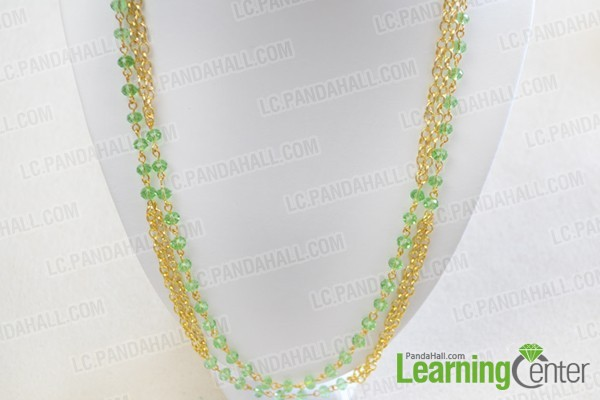 finish this long chain jewelry