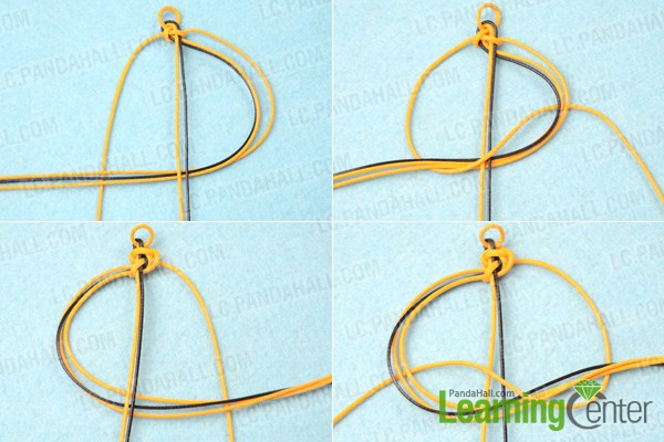 How To Make A Double Wave Friendship Bracelet With Wax Cord Unique Double Wave Friendship Bracelet Pattern