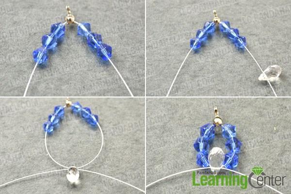 Make the sapphire crystal lotus flower pendants