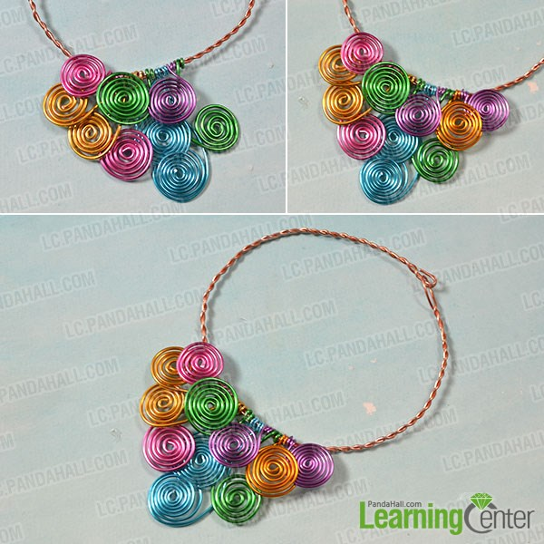 How to Make a Wire Wrapped Multi Colored Statement Necklace ...