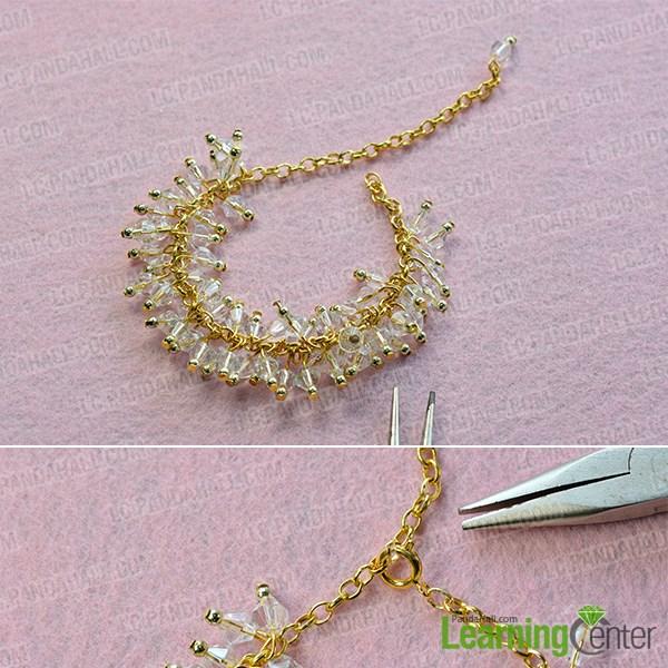 Step 2: Finish this glass bead harm bracelet