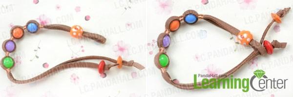 finish suede cord bracelet diy