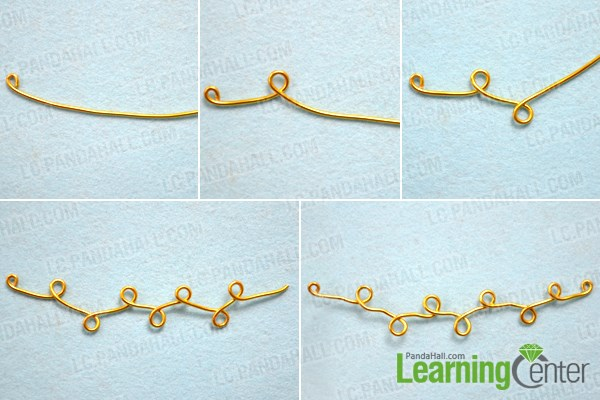 Wrap the vine frame for the handmade wire wrapped necklaces