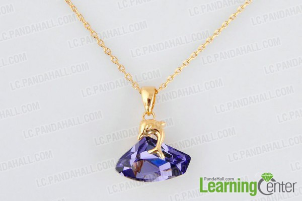 attaching pendant to necklace with pinch bails