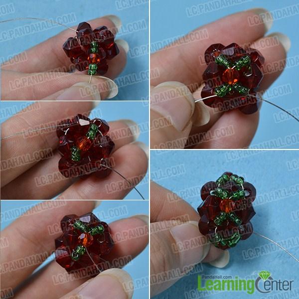 make the main part of the Christmas beaded ball earrings