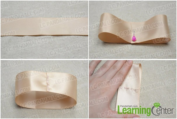 Step 1: Prepare ivory satin ribbon