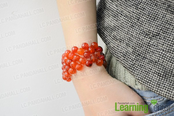 The right angle weave bead bracelet