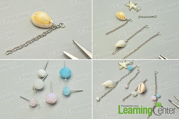 Make the beaded chain tassels