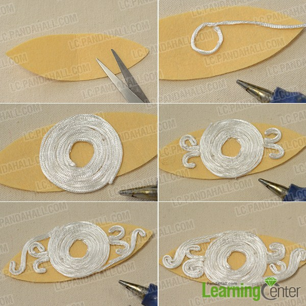 make the second part of the yellow ribbon headband