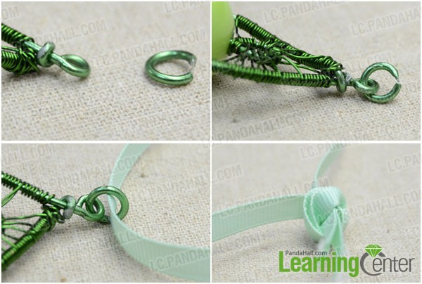 Step 3: Add ribbon to finish the necklace
