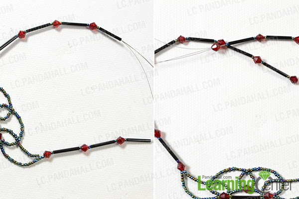 make the rest part of the vintage seed bead necklace4