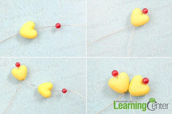 Instruction on how to make flower earrings