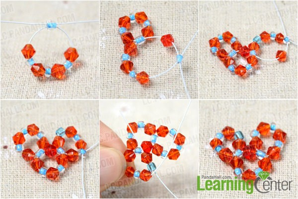 Easy Way To Make Beaded Heart Charms