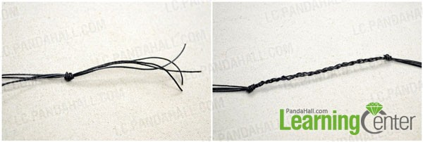 Prepare the string and make first bracelet part