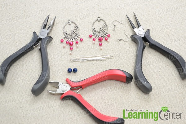 Necessities for DIY beaded chandelier earrings: