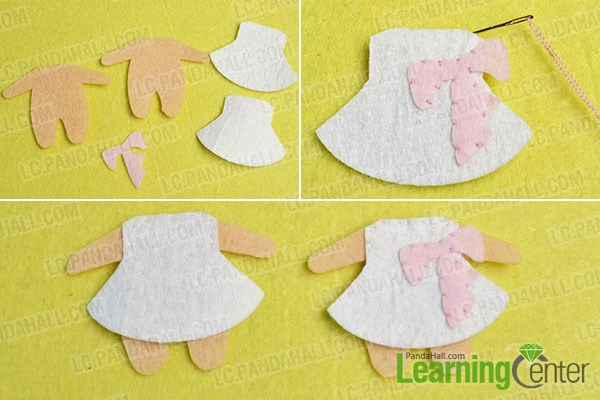 make the second part of the lovely felt couple pendants