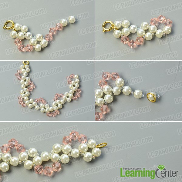 Finish the pearl beads bracelet