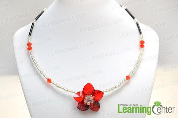 finished memory choker necklace