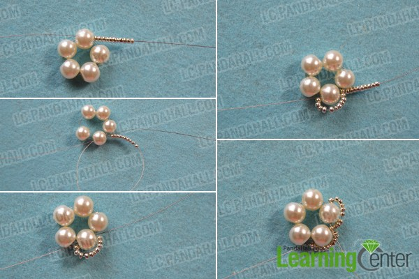 How to Make Earrings with Beads and Wires-A Pair of Flower Shaped Earrings for You