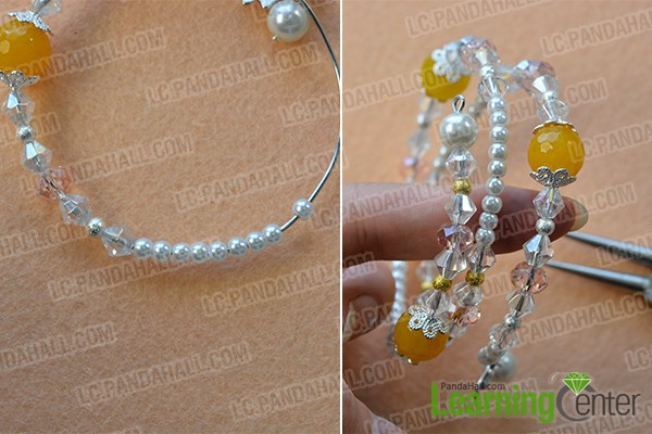 Finish this wire wrapped bowknot bracelet
