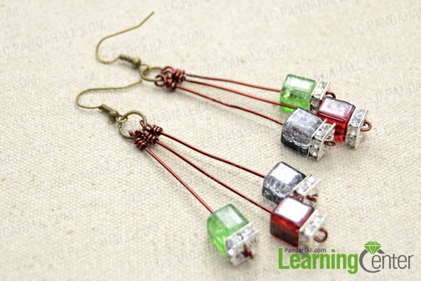 Make the other piece beaded wire earring