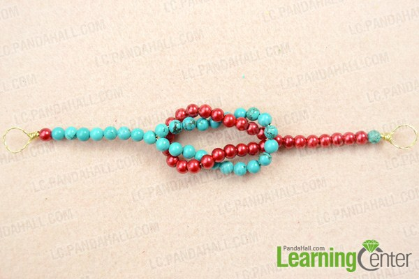 Finish beaded knot bracelet
