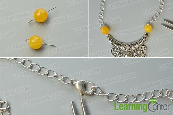 Finish the big pendant necklace