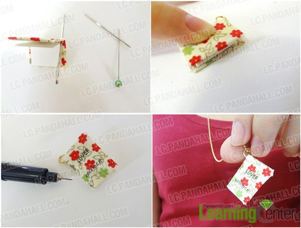 Design the album into charm of photo necklace
