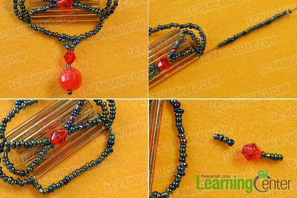 Make the upper link for the earring hook