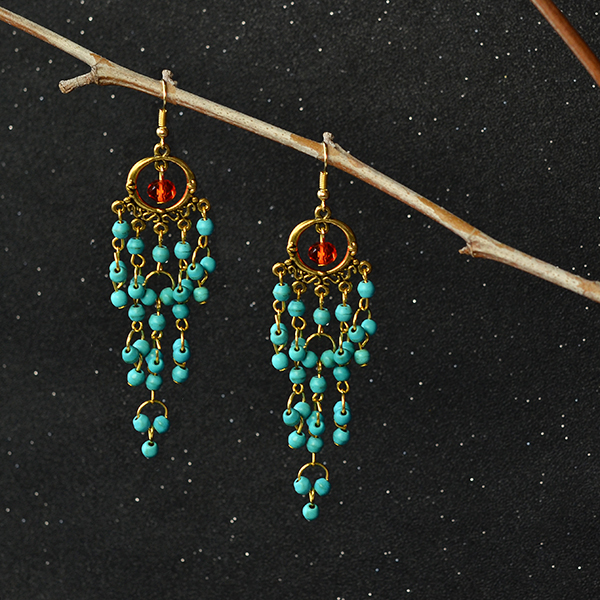Here are the finished chandelier earrings: