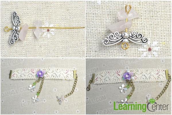 attach decrations and bracelet clasp