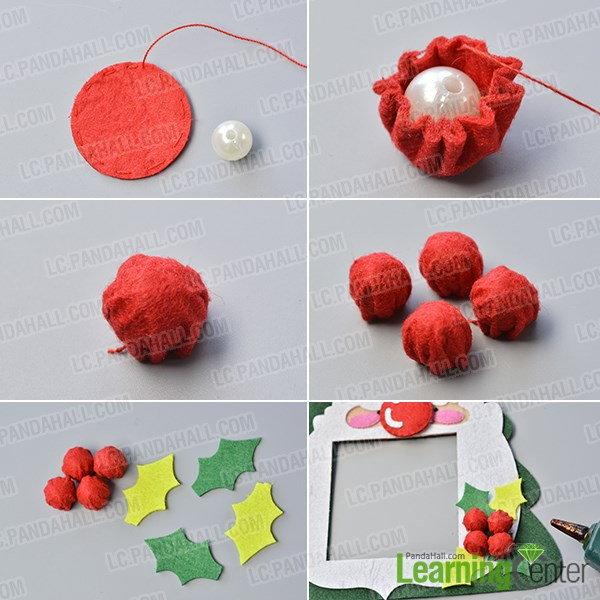 Make the fourth part of the easy felt Christmas hanging decoration