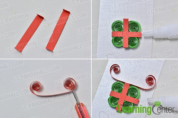 add red quilling paper ornaments