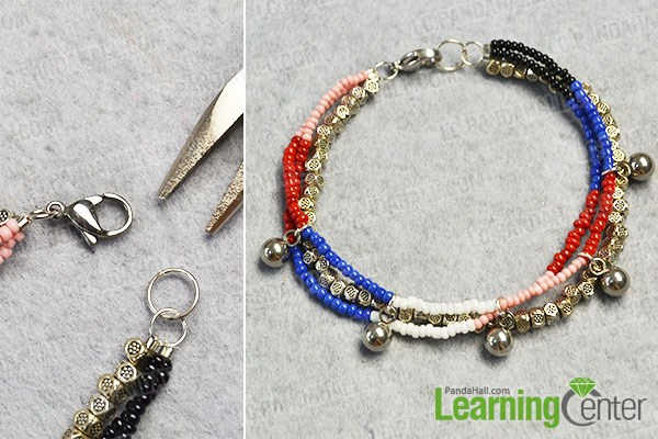 Finish the 3-strand bracelet