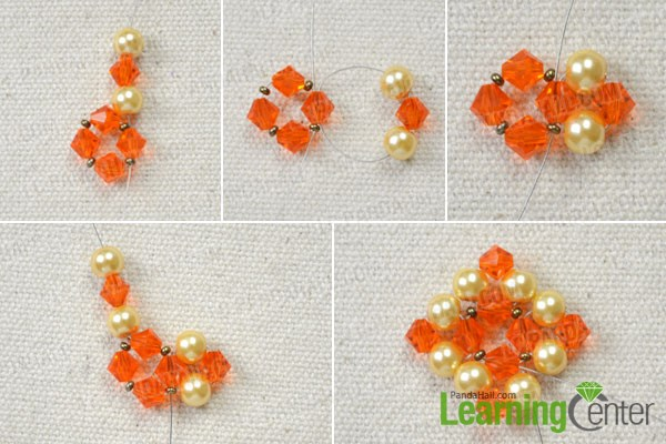 Make the main part of the beaded dangle earrings