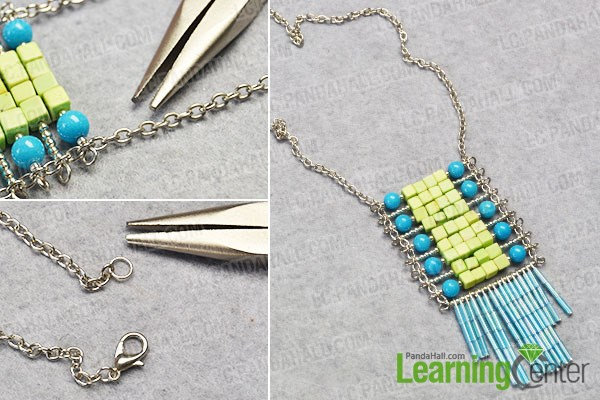 Finish the tassel pendant necklace